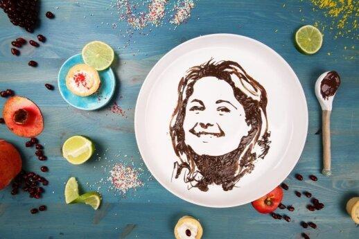 Jolita Vaitkutė ir jos darbai iš maisto
