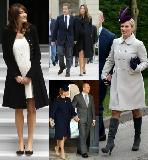 Pirmoji Prancūzijos dama Carla Bruni-Sarkozy ir Didžiosios Britanijos karalienės vaikaitė Zara Phillips