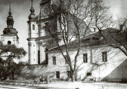 Šv. arkangelo Mykolo bažnyčia ir bernardinių vienuolynas 1938 m. atviruke