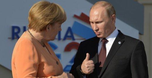 A. Merkel, V. Putinas