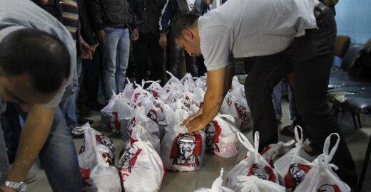 Į Gazą tuneliais slapta gabenamas KFC greitasis maistas
