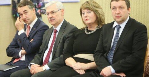 Petras Auštrevičius, Zigmantas Balčytis, Vilija Blinkevičiūtė, Antanas Guoga