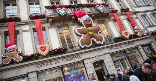Kalėdiškai pasipuošęs Strasbūras