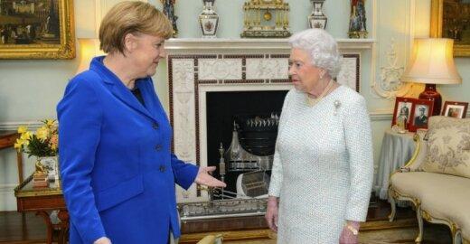 Angela Merkel ir Elžbieta II