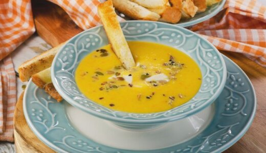 Prancūziška kreminė moliūgų sriuba