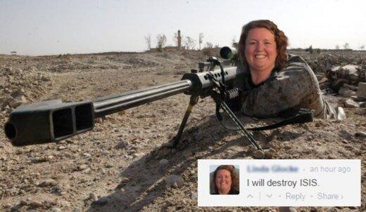 Susipažinkite: štai moteris, kuri sunaikins ISIS
