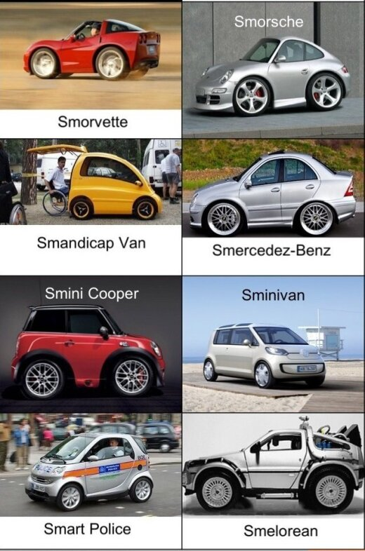 """Automobilio """"Smart"""" evoliucija"""