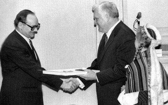 1993.03.11 Česlovas Juršėnas ir Algirdas Brazauskas