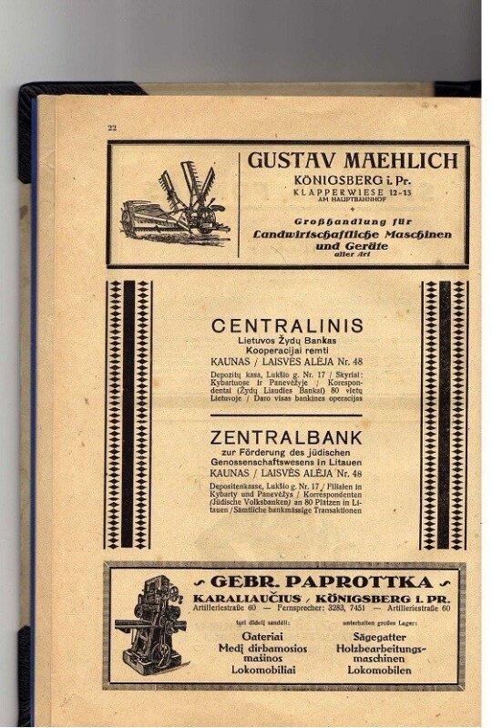 Centralinio žydų banko dokumentas