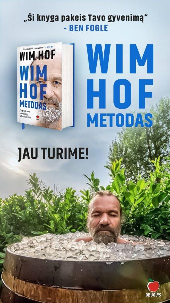 """Wim Hof Metodas"" knygos viršelis"