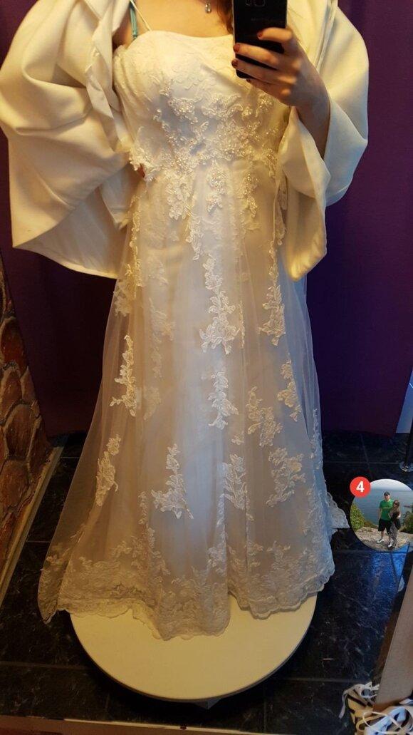 Pasiūlyta vestuvinė suknelė