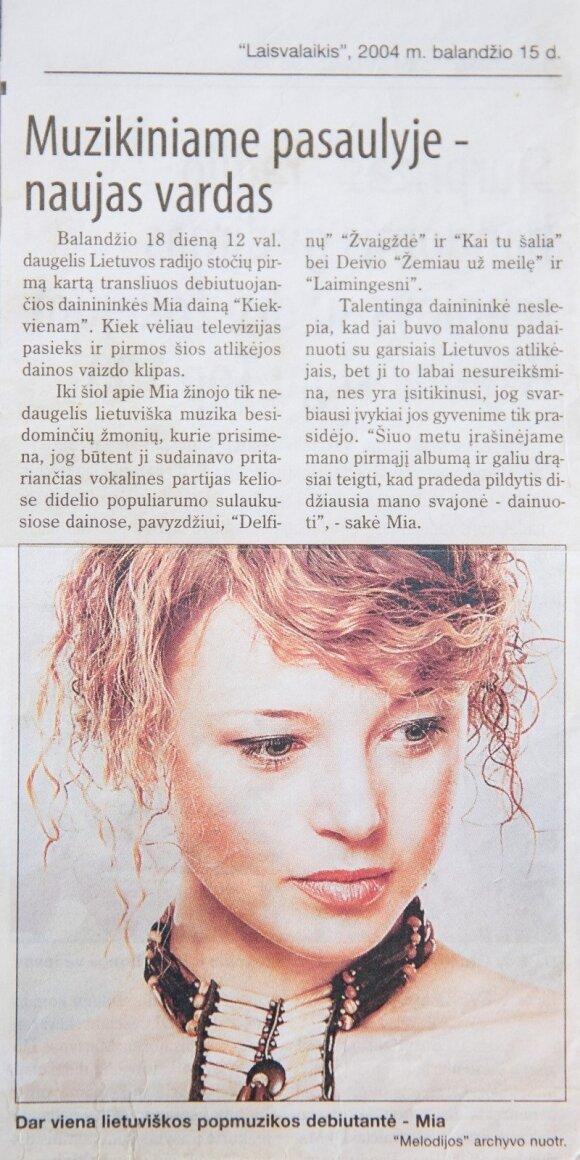 Vilija Pilibaitytė-Mia oficialiai keičia savo vardą