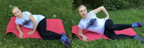 Jovitos nėštumo dienoraštis. 32 savaitė: mankšta gryname ore