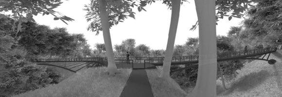 Kabančio tilto vizualizacija