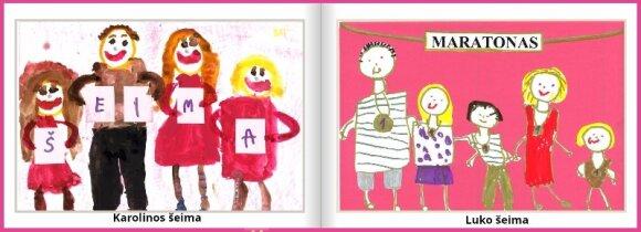 Vaikų piešiniuose – daug teigiamų emocijų ir kūrybiškumo