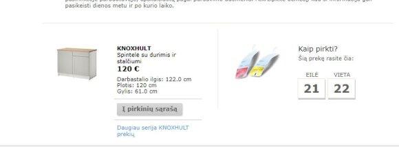 """""""Ikea"""" spintelė"""