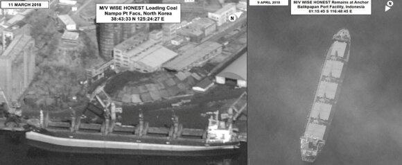 JAV areštuotas Šiaurės Korėjos laivas