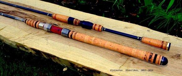 Vienetinė Gintauto Stančiko pagaminta meškerė