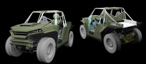 Lietuviai kuria karinį bagį – galės būti vairuojamas ir be žmogaus viduje