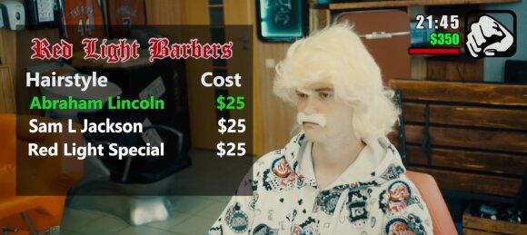 """Red Light Barbers"" reklama"