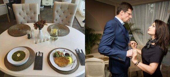 """Kairėje - restorano """"Vitaminas B12"""" interjeras, dešinėje - Mios restorano """"Pepe"""" atidarymo akimirka"""
