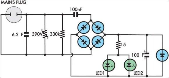 Elektros energiją taupančios dėžutės schema