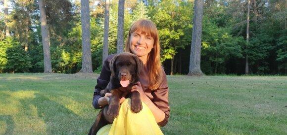 Vlada Musvydaitė ir jos šuo Vingis