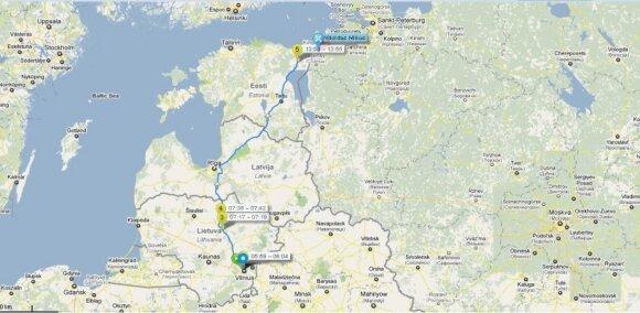 Nuvažiuotas atstumas iki liepos 6 d., 15 val. (Duomenis pateikia Altas)