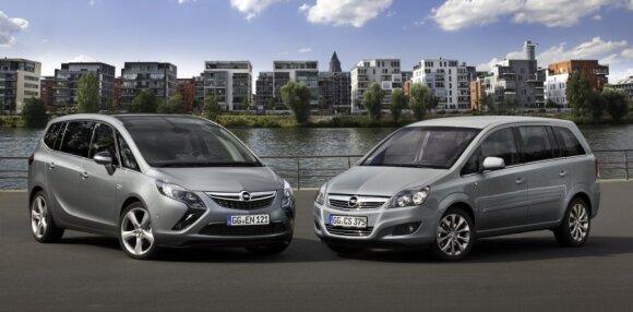 Opel Zafira Tourer ir antros kartos Zafira