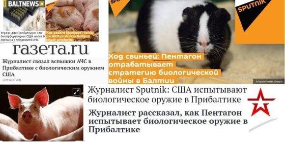 Kremliaus ruporai vėl sėja paniką: JAV Baltijos šalyse naudoja biologinius ginklus