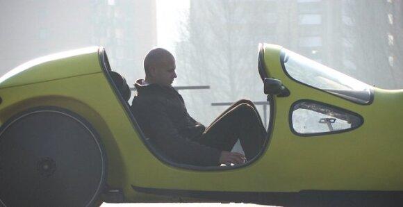 Būsimas elektro-velomobilių įmonės vadovas pats važinėja šiuo automobiliu