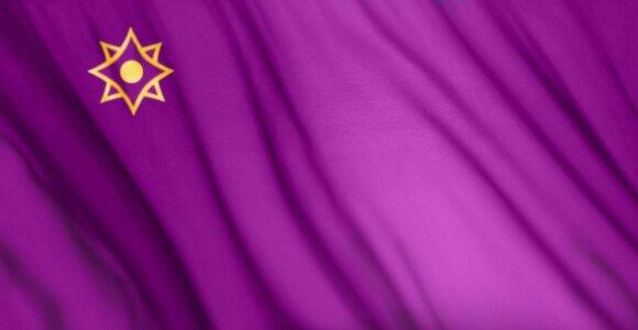 Siūloma Eurazijos Ekonomikos Sąjungos vėliava (mesoeurasia.org)