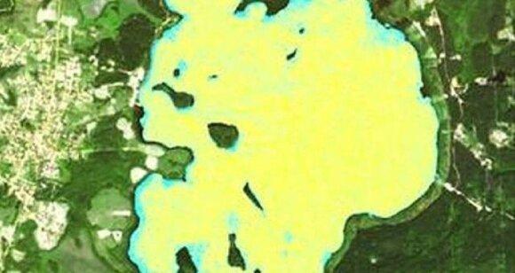 Platelių ežeras iš kosmoso