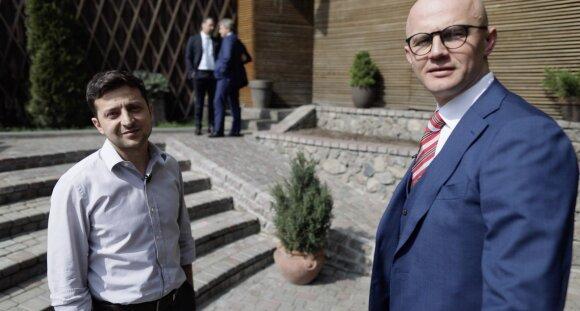 Volodymyras Zelenskis ir Edmundas Jakilaitis