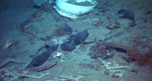 Titaniko liekanos vandenyno dugne