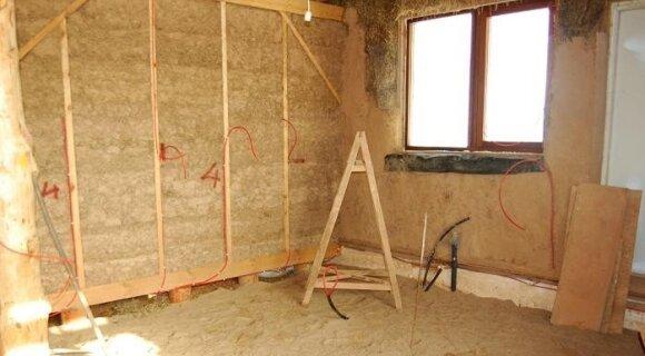Šiaudinio namo statybos: virtuvės zona