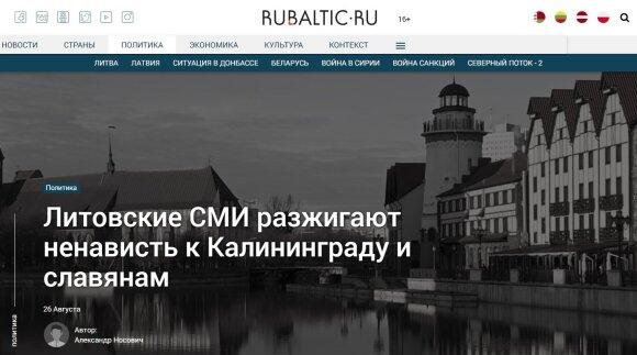 Rusijoje dėl DELFI publikacijos kilo isterija: taip apie Kaliningradą gali galvoti tik Hitlerio sėbrai