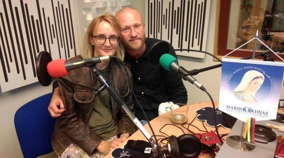 J. V. Tūras su žmona Jurga Marijos radijuje, 2019