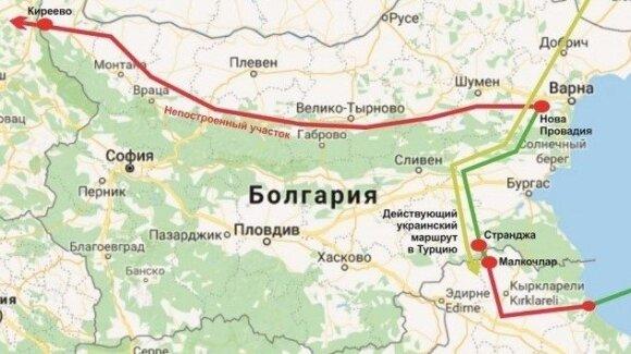 Preliminarus dujų transportavimo maršrutas