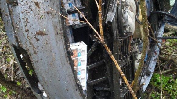 В попавшем в ДТП автомобиле пограничники обнаружили контрабандные сигареты