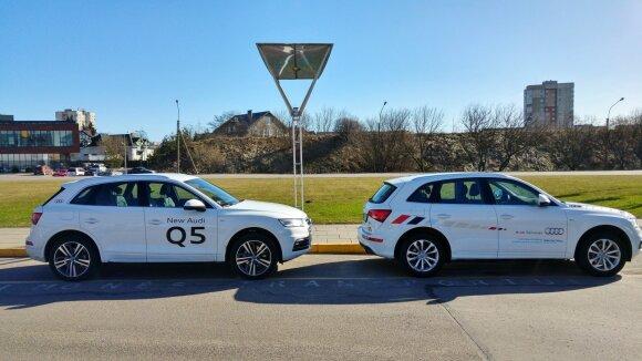 "Naujasis ir senasis ""Audi Q5"""