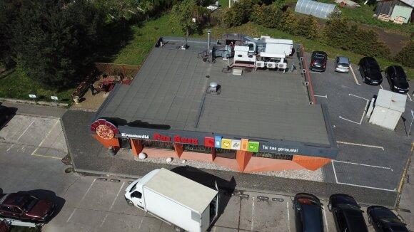 Nelegaliai pastatyta parduotuvė Kaune, Marijampolės plente