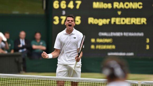 Fantastiškai žaidęs ir R. Federerį patiesęs M. Raoničius – Vimbldono finale