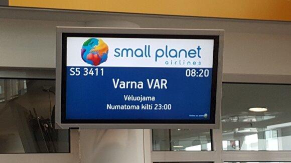 Atidėtas skrydis į Varną