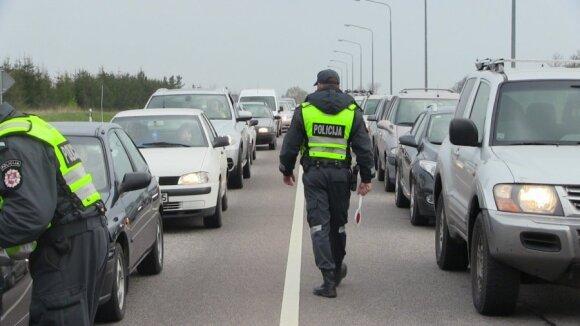 Policijos reidas Klaipėdos r., Labrenciškėse