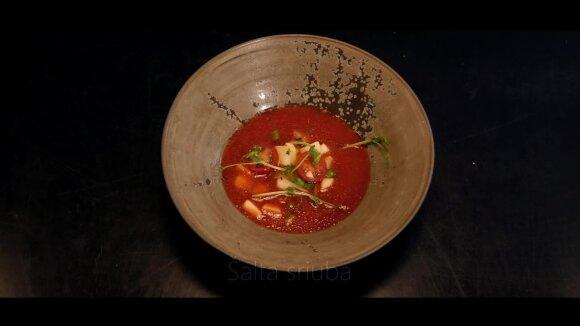 Šefo Deivydo Praspaliausko vasaros receptas: nesunkiai paruošiama išskirtinio skonio sriuba