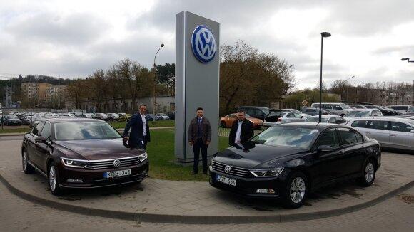 """""""Volkswagen"""" atstovai"""