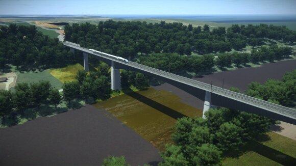 """Rail Baltica"" tiltas per Nerį"