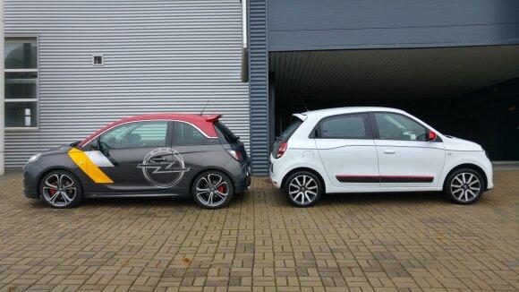 """""""Opel Adam S"""" ir """"Renault Twingo"""""""