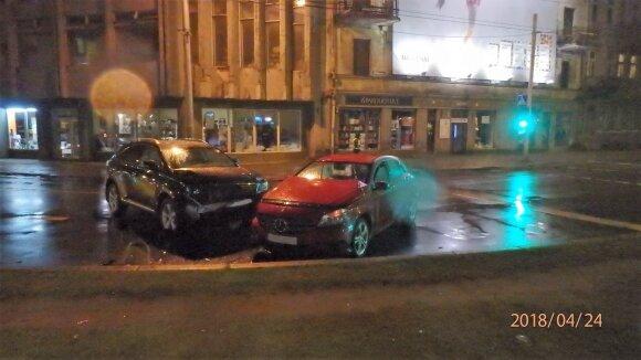 Avarija Kaune: vienas vairuotojas girtas, kitas išgėręs